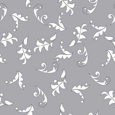 leafy: seamless leafy pattern background. Illustration