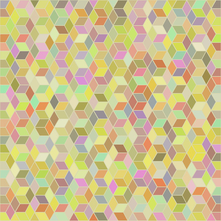 hues: Vector abstract geometric background in colorful hues. Illustration