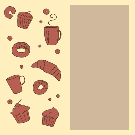 boulangerie: Vector bakery template background with space for text. Illustration