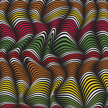 distort: Vector abstract pattern. 3d effect background.