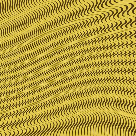 distort: Vector abstract 3d effect wavy stripes background. Illustration