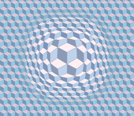 distort: Vector 3d abstract pattern. Optical illusion. Illustration