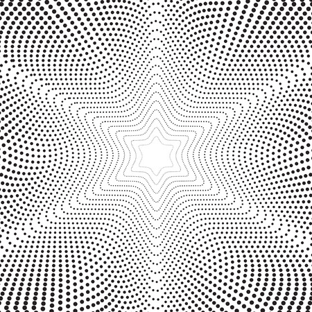 Abstract background with dotted twisted lines. Optical illusion.