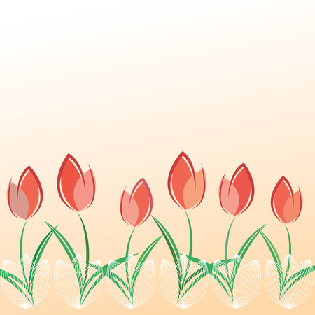 Spring greeting card template with space for text.