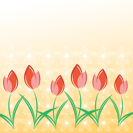 Spring greeting card template with space for text. Happy Valentine's Day. Happy birthday. Happy Women's Day. Happy Mother's Day.  Vettoriali