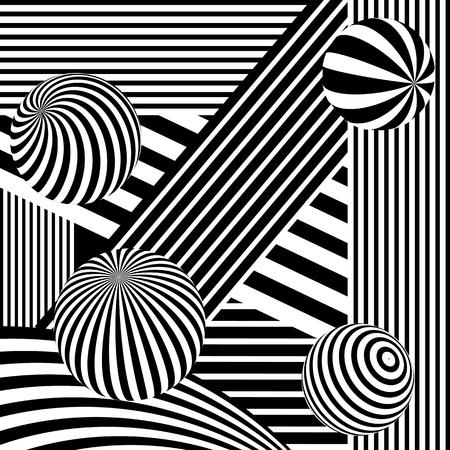Fondo abstracto de vector en blanco y negro.