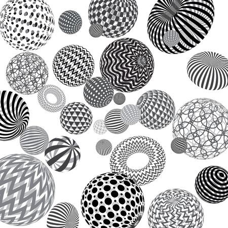 Vector abstract 3d effect background with spheres. 向量圖像