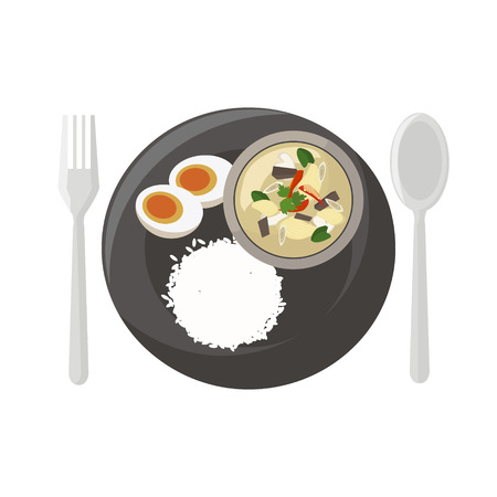 art vector: Thai food vector illustration cartoon Illustration