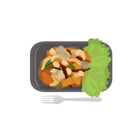food illustration: Thai food vector illustration cartoon Illustration