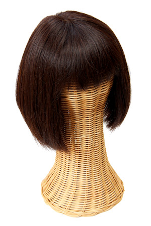 hairpiece: Bob Wig with Bangs Stock Photo
