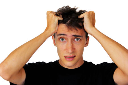 restless: Frustrated man Stock Photo
