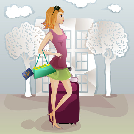 capricious: young tourist lady losing her documents