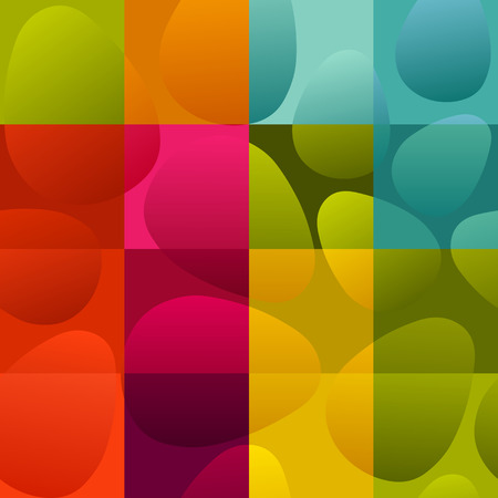 checked background: seamless multicolor easter eggs on checked background Illustration