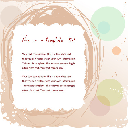 pretty doodle vintage frame on abstract background with copyspace for your text