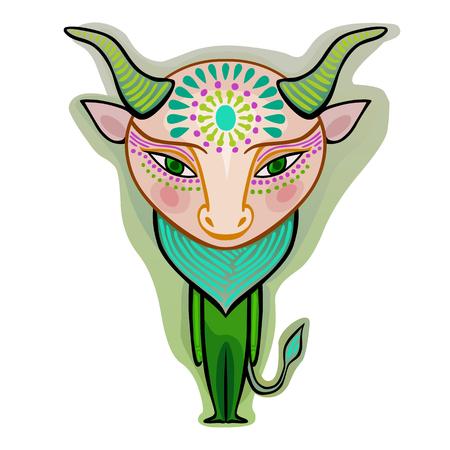színes aranyos eredeti állatöv jel - taurus