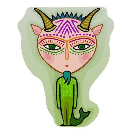 colorful cute original zodiac sign - capricorn
