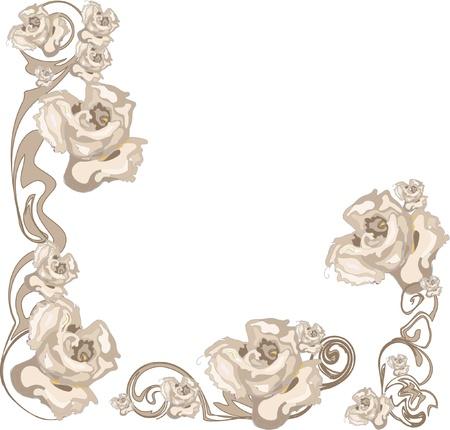 floral frame: Vintage floral frame Illustration