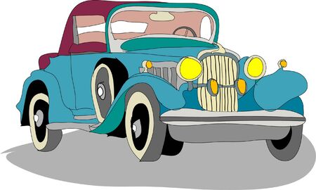 Retro car Stock Vector - 10491200