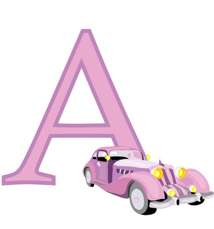 utility vehicle: Letter A Illustration