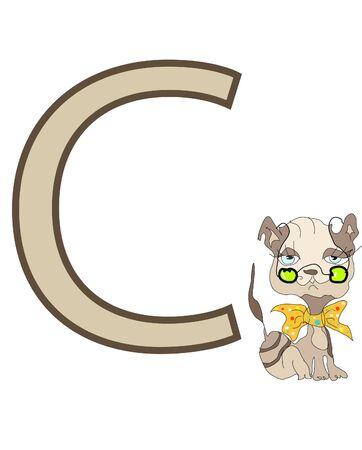 cat alphabet: Letter C Illustration