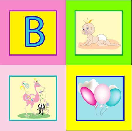 Letter bB Vector