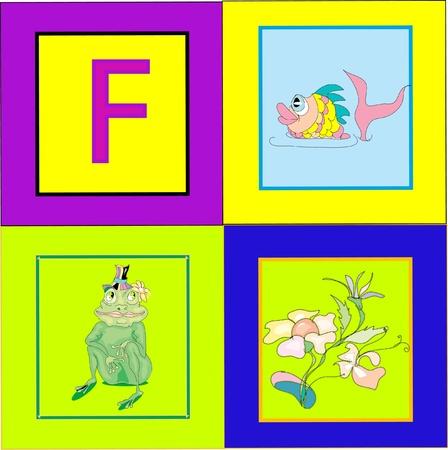 Letter fF Vector
