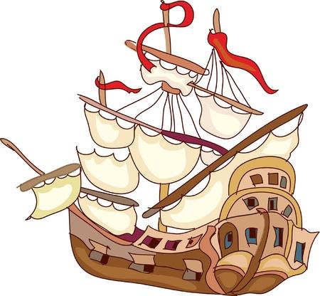 Old ship Vector