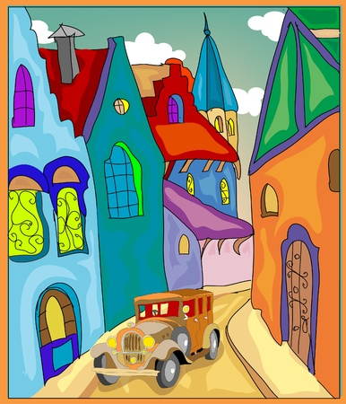 clip art draw: Old street