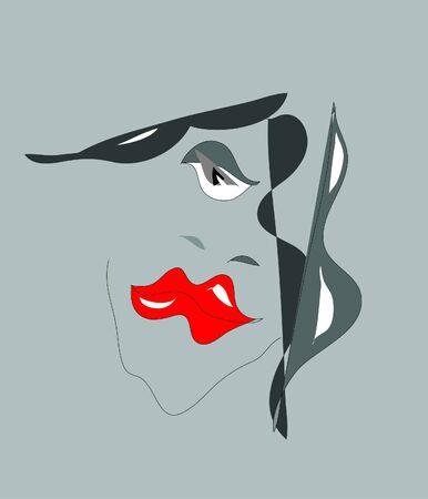 передозировка: Abstract face Иллюстрация