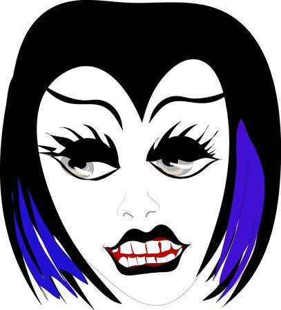 Gothic face Vector
