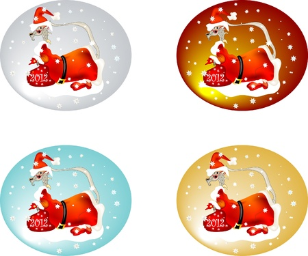 Set of Santas Stock Vector - 11074393