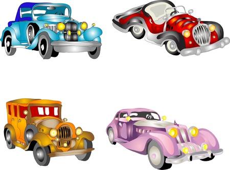 mode of transportation: Set di auto retr�