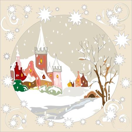 Christmas vintage greeting card Stock Vector - 11438439