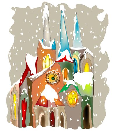 castle tower: Merry Christmas