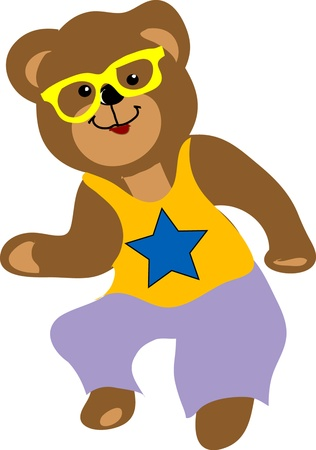 Dancing bear Vector