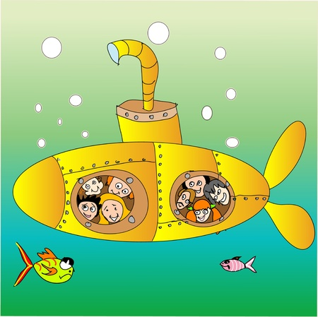 Yellow submarine Stock Vector - 12870278