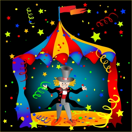 theater man: Circus Illustration