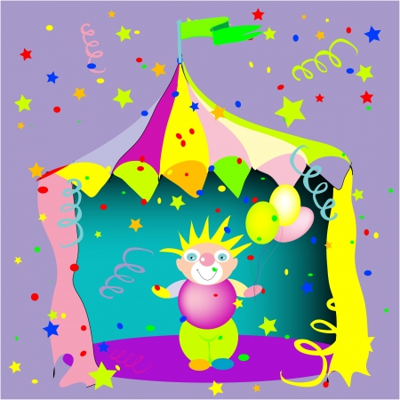 Clown circus Stock Vector - 14827618