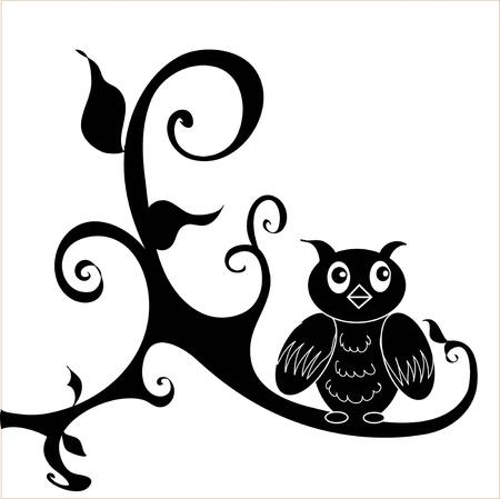 decal: Owl Illustration