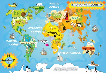 avestruz: Kid s world map