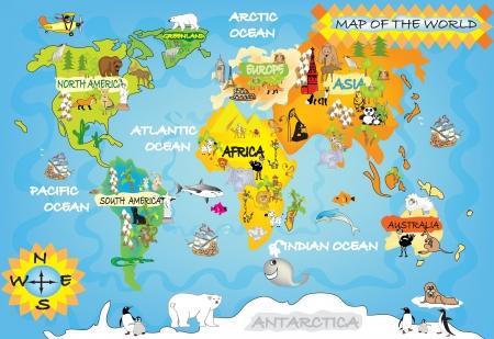 world maps: Kid s world map