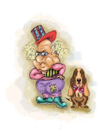 basset: Clown and basset