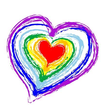 Rainbow heart Stock Vector - 16571091