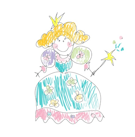 tooth fairy: Fairy princess Illustration