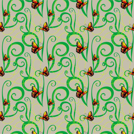 machaon: Butterfly machaon seamless pattern