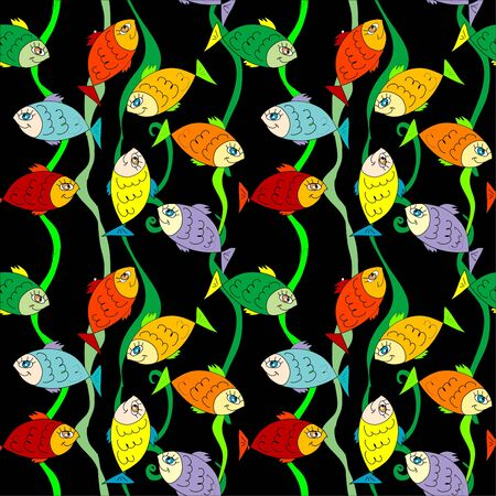 Fish seamless patterrn Stock Vector - 16906299