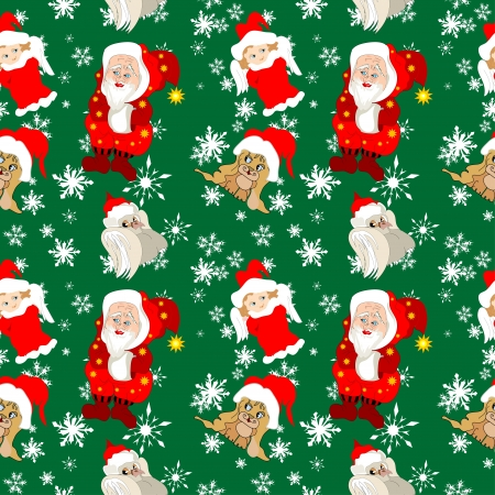 Christmas seamless pattern photo