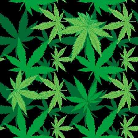 Cannabis seamless pattern Vector