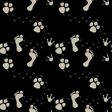 footstep: Footstep seamless isolated pattern Illustration