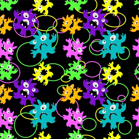 Monsters seamless pattern Stock Vector - 17234345